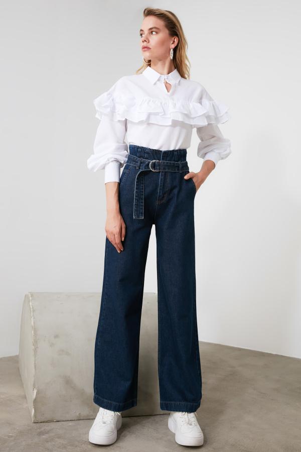 سفارش شلوار جین زنانه ارزان مارک ترندیول میلا رنگ آبی کد ty44205594