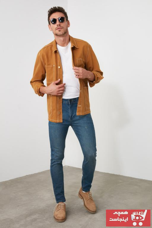 شلوار جین مردانه خاص مارک ترندیول مرد رنگ لاجوردی کد ty44245581