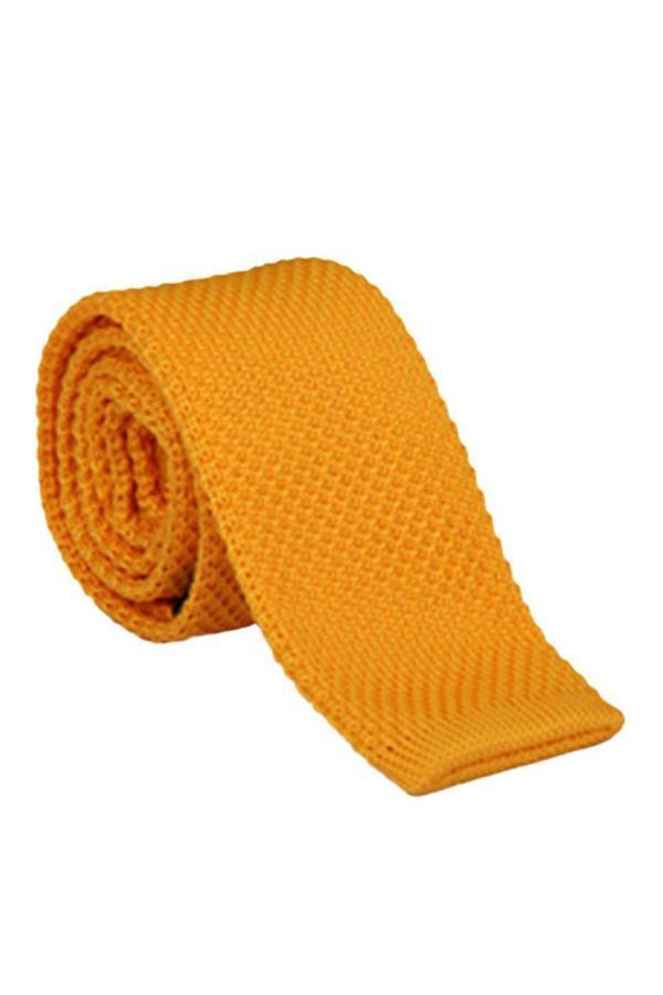 کراوات مارک دار برند Ocean Pole رنگ زرد ty44402851