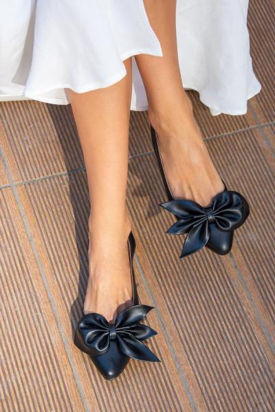 کفش تخت زنانه با قیمت برند Fox Shoes رنگ مشکی کد ty44600798