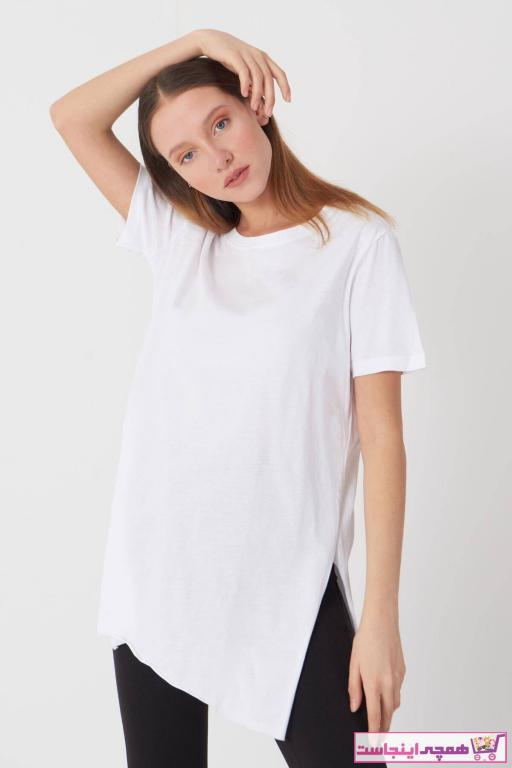 تیشرت زنانه مدل دار برند Addax کد ty4460188