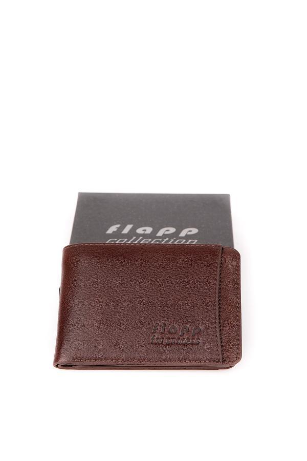 کیف پول 2020 مردانه برند Flapp رنگ قهوه ای کد ty45329343