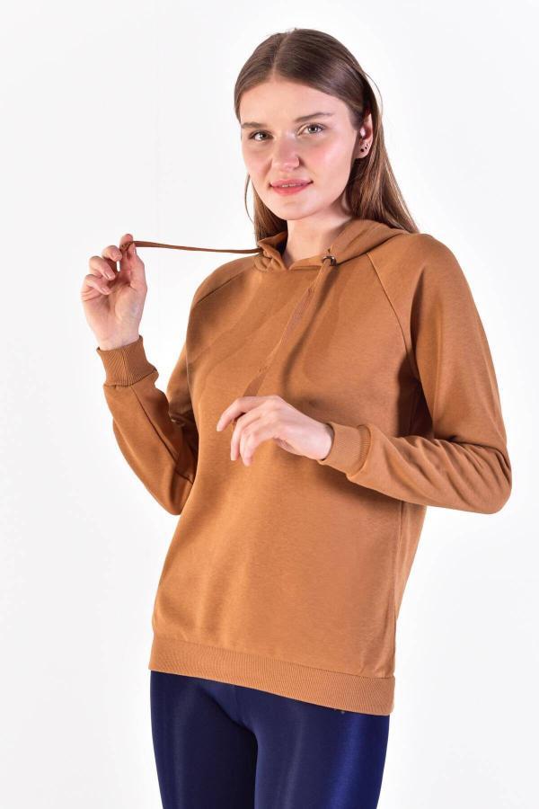 سویشرت زنانه اسپرت برند Addax رنگ قهوه ای کد ty4534347