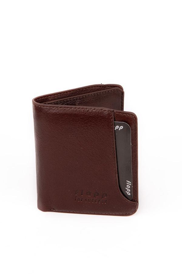 کیف پول ساده مردانه برند Flapp رنگ قهوه ای کد ty45364475