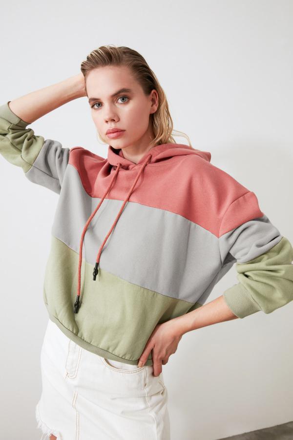 سویشرت زنانه شیک برند ترندیول میلا رنگ صورتی ty45731978
