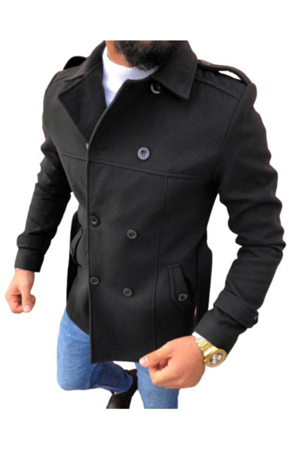 فروش اینترنتی پالتو مردانه با قیمت برند DCS COLLECTION رنگ مشکی کد ty45943766