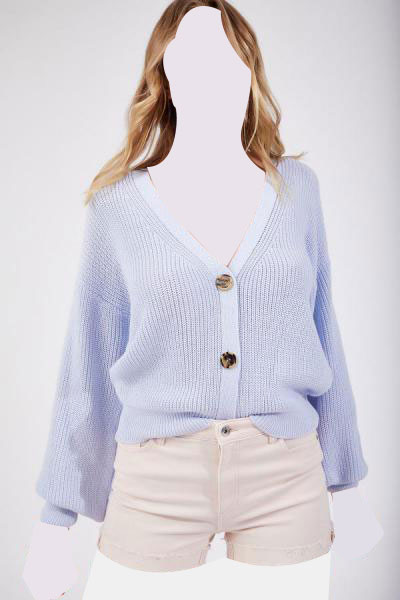فروش ژاکت بافتی زنانه حراجی برند Happiness İst. رنگ آبی کد ty45995162
