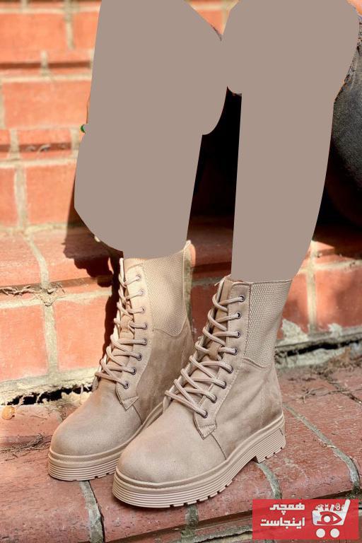 بوت زیبا دخترانه برند İnan Ayakkabı رنگ بژ کد ty46004222