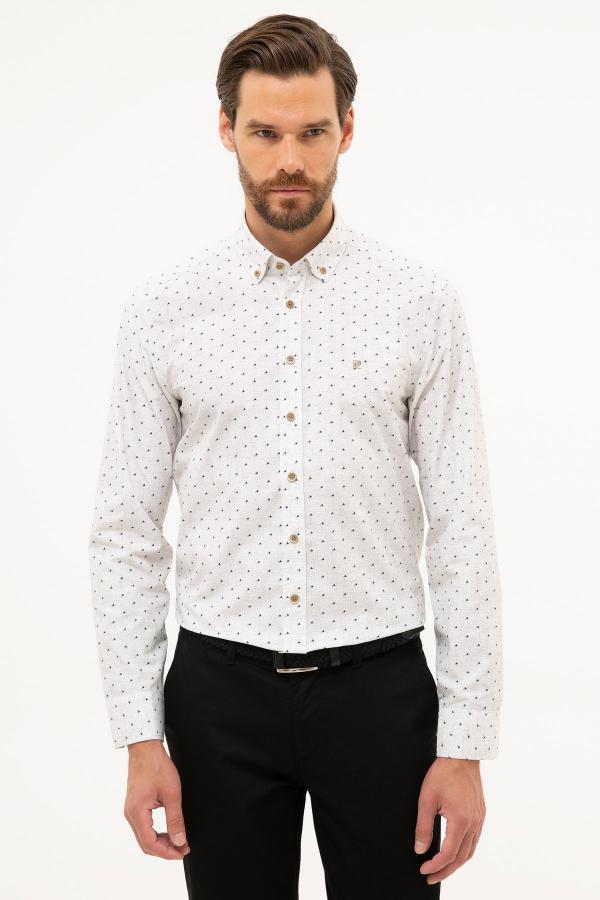 فروشگاه پیراهن مردانه اینترنتی برند پیرکاردین رنگ قهوه ای کد ty46162791