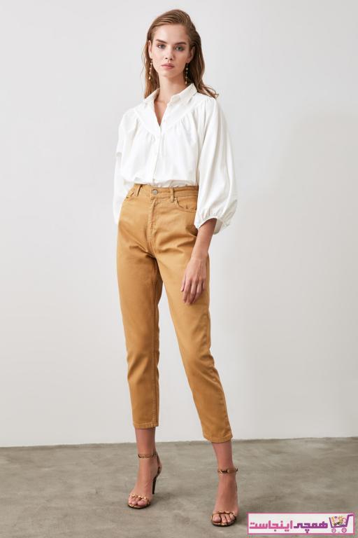 ژورنال شلوار جین زنانه مارک ترندیول میلا رنگ قهوه ای کد ty46193594