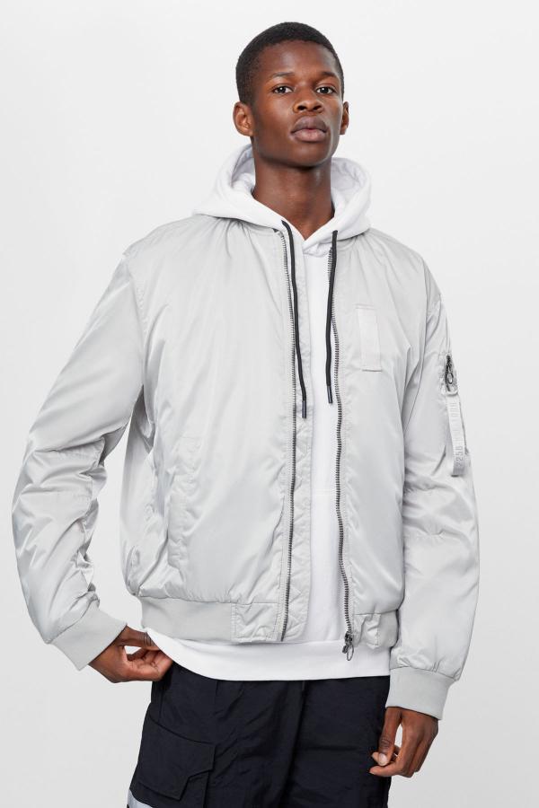 خرید ژاکت  مارک برشکا رنگ نقره ای کد ty46197601