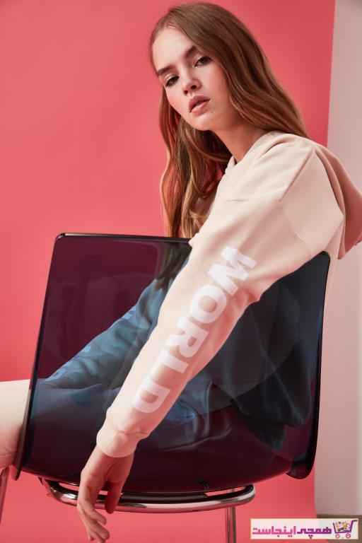 سویشرت شیک زنانه مارک ترندیول میلا رنگ بژ کد ty46222900