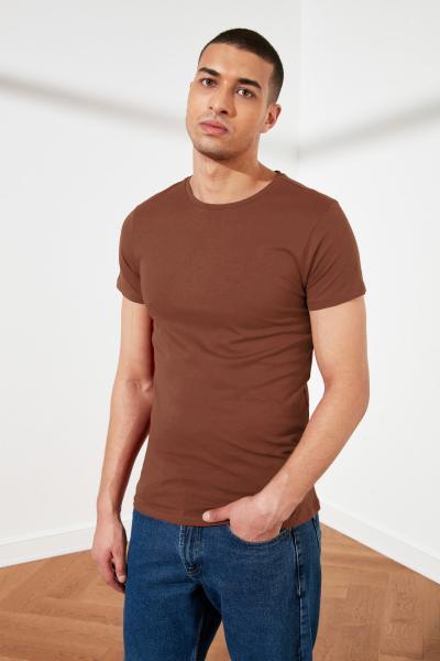 تیشرت مردانه نگیندار مارک ترندیول مرد رنگ قهوه ای کد ty46351793