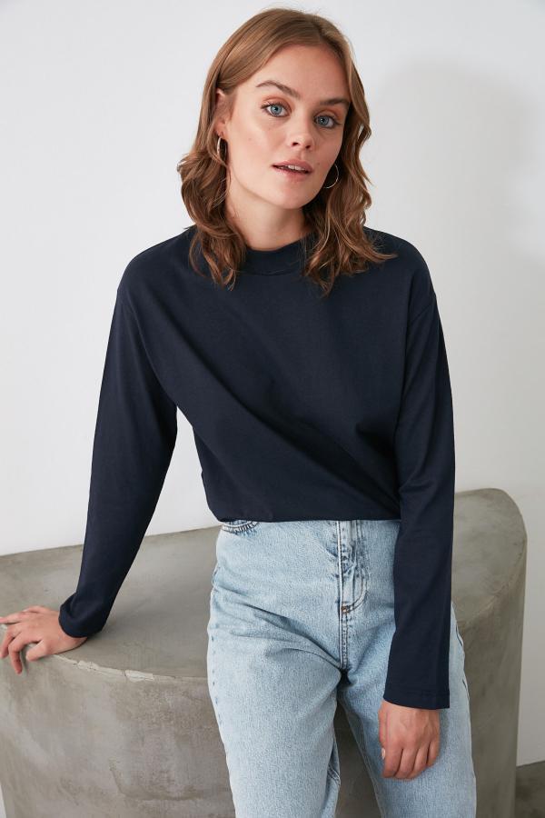 فروش پستی ست تیشرت زنانه برند ترندیول میلا رنگ لاجوردی کد ty46479389