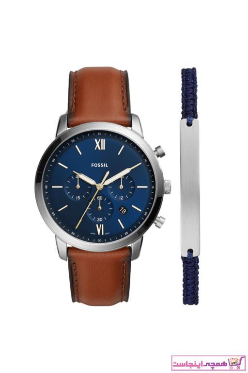 فروش ساعت مردانه حراجی برند Fossil رنگ قهوه ای کد ty46511982