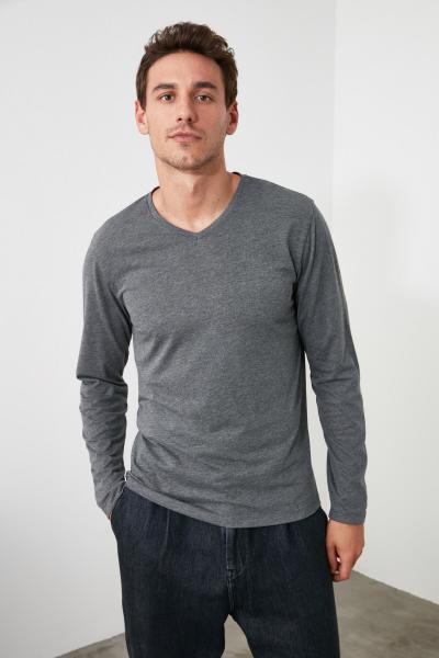 خرید پستی تیشرت زیبا مارک ترندیول مرد رنگ نقره ای کد ty46607930