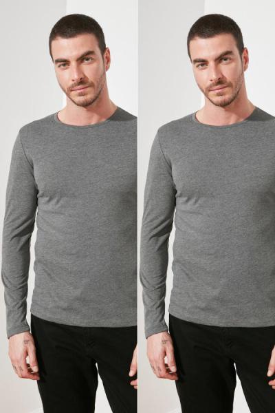 فروشگاه تی شرت مردانه تابستانی برند ترندیول مرد رنگ نقره ای کد ty46672745