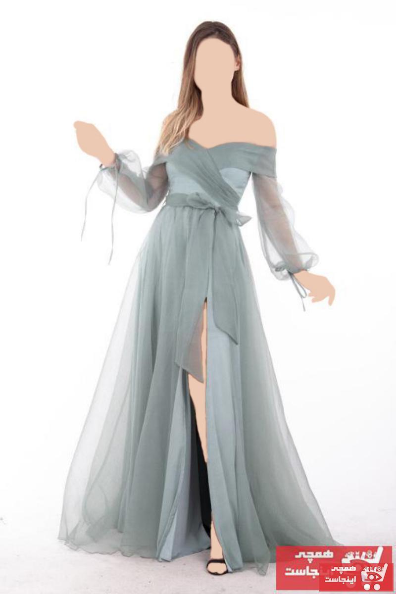 لباس مجلسی زنانه ست برند Ardanewline رنگ فیروزه ای ty46683747