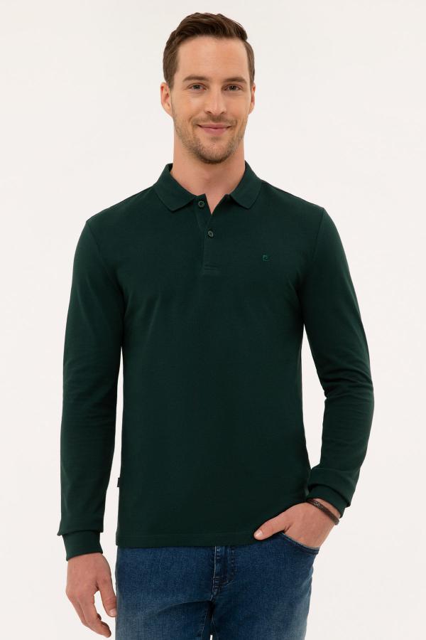 فروش پستی سویشرت مردانه شیک جدید مارک پیرکاردین رنگ سبز کد ty46723590