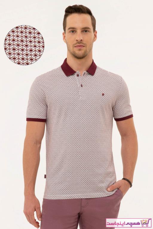 تی شرت مردانه فروشگاه اینترنتی برند پیرکاردین رنگ زرشکی ty46723620