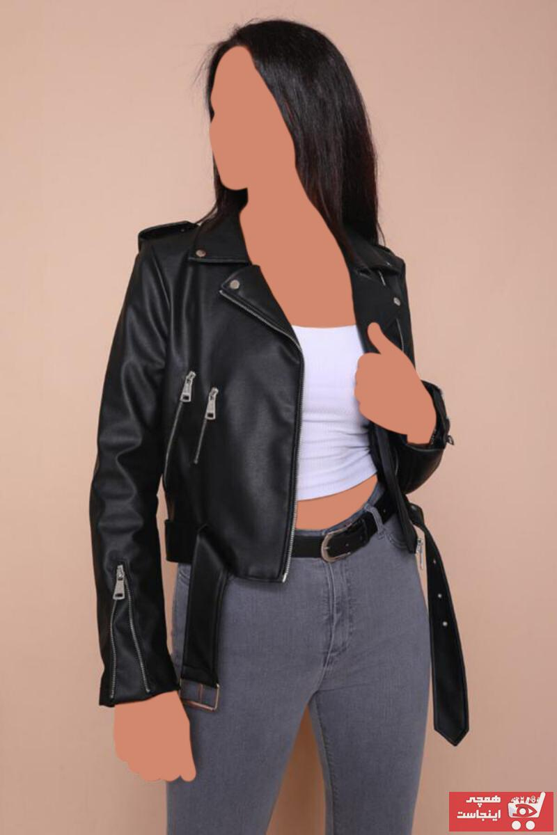 خرید اسان ژاکت زنانه اسپرت جدید برند Cappmoda رنگ مشکی کد ty46996083