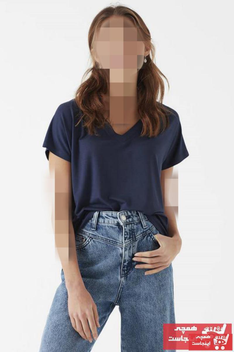 خرید انلاین تیشرت جدید زنانه شیک برند ماوی رنگ لاجوردی کد ty4700295