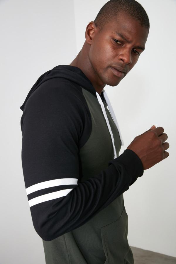 تیشرت جدید مارک ترندیول مرد رنگ خاکی کد ty47084343