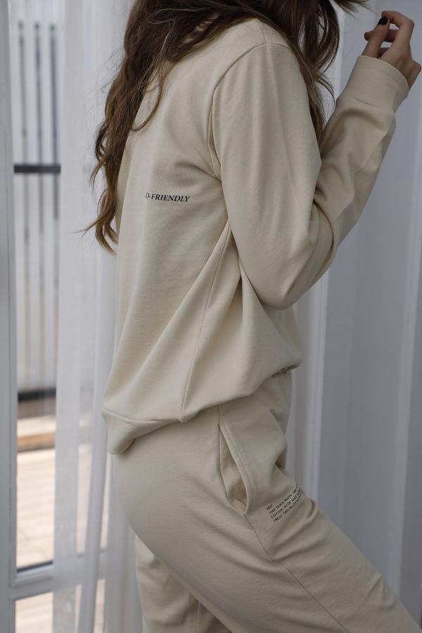 سویشرت زنانه مدل 2020 مارک ترندیول میلا رنگ بژ کد ty47160764