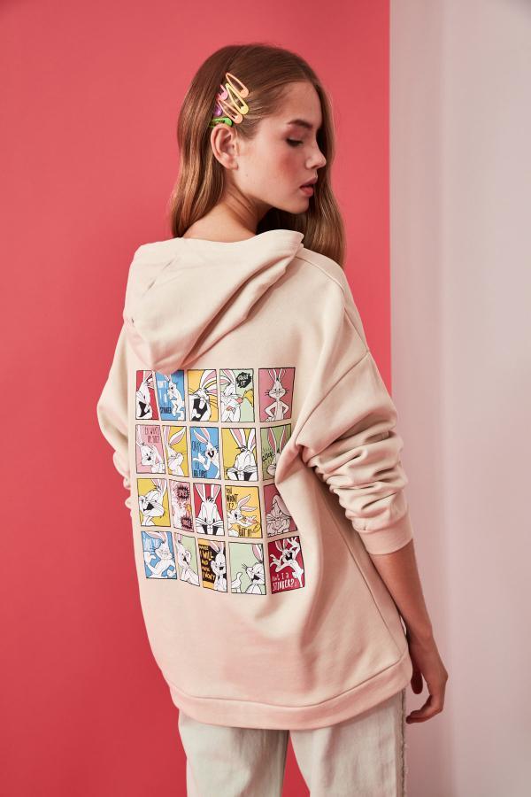 خرید انلاین سویشرت جدید زنانه شیک مارک ترندیول میلا رنگ بژ کد ty47295334