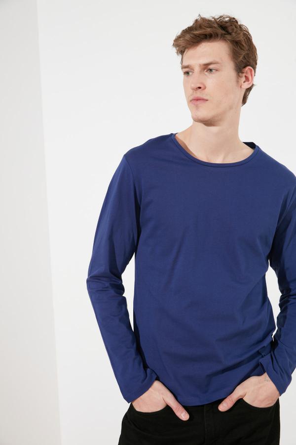 خرید پستی تی شرت شیک مارک ترندیول مرد رنگ لاجوردی کد ty47312480
