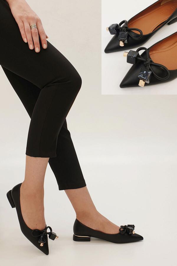کفش تخت شیک دخترانه برند Marjin رنگ مشکی کد ty47313694