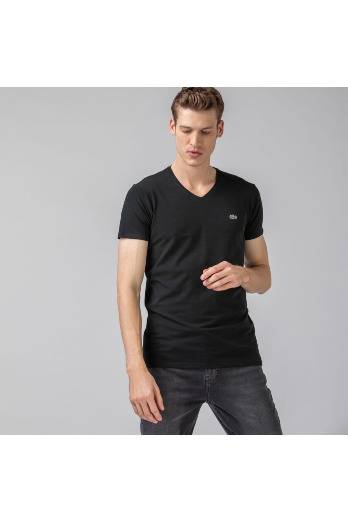 خرید ارزان تی شرت فانتزی مردانه برند لاگوست رنگ مشکی کد ty4738735