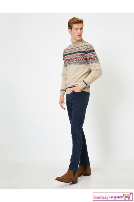 شلوار جین مردانه طرح دار برند کوتون رنگ لاجوردی کد ty47424833