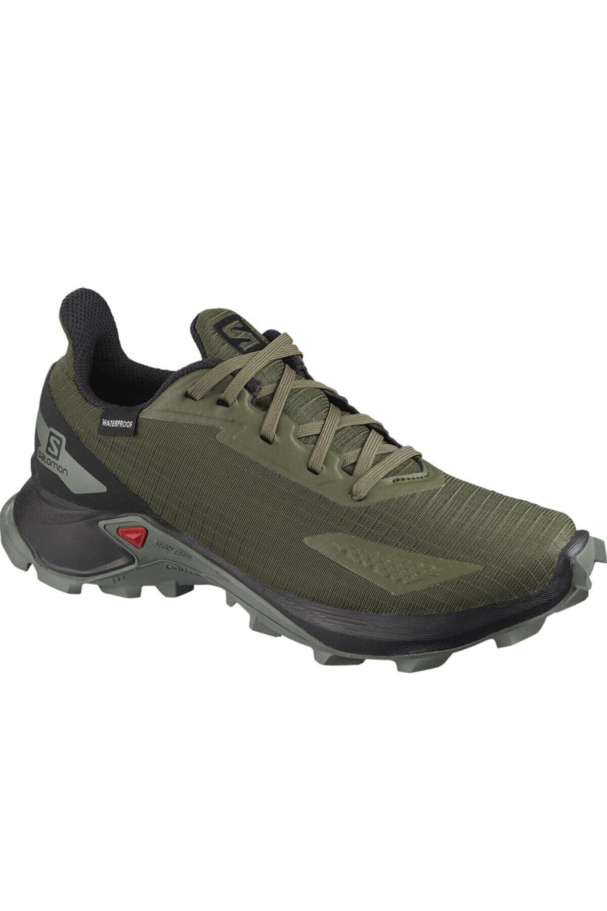 کفش کوهنوردی مردانه ترک برند Salomon رنگ خاکی کد ty47554611