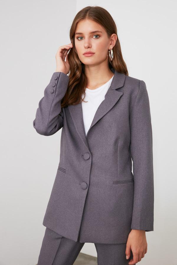 خرید اسان ژاکت زنانه اسپرت جدید برند ترندیول میلا ترک رنگ نقره ای کد ty47636282