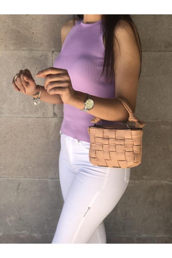 کیف دستی بلند برند Oskar Çanta رنگ صورتی ty47852987