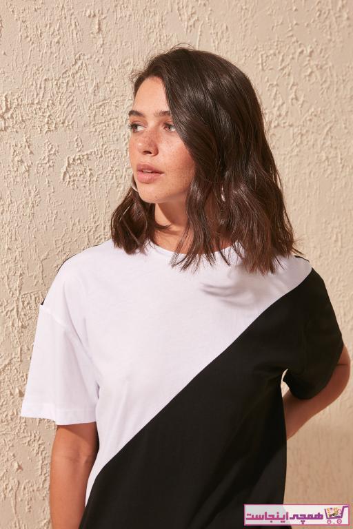 فروش تیشرت زنانه فانتزی برند ترندیول میلا رنگ مشکی کد ty4794091