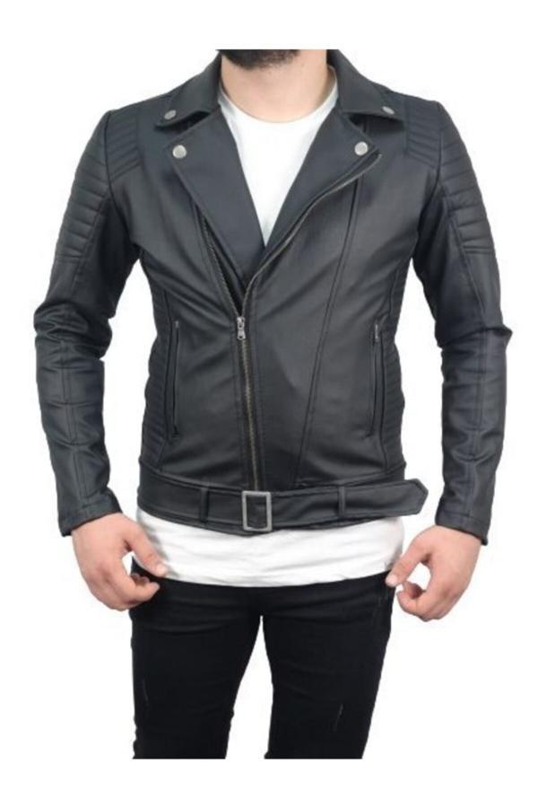 فروش نقدی کاپشن چرم مردانه خاص برند marco vacio رنگ مشکی کد ty48387412