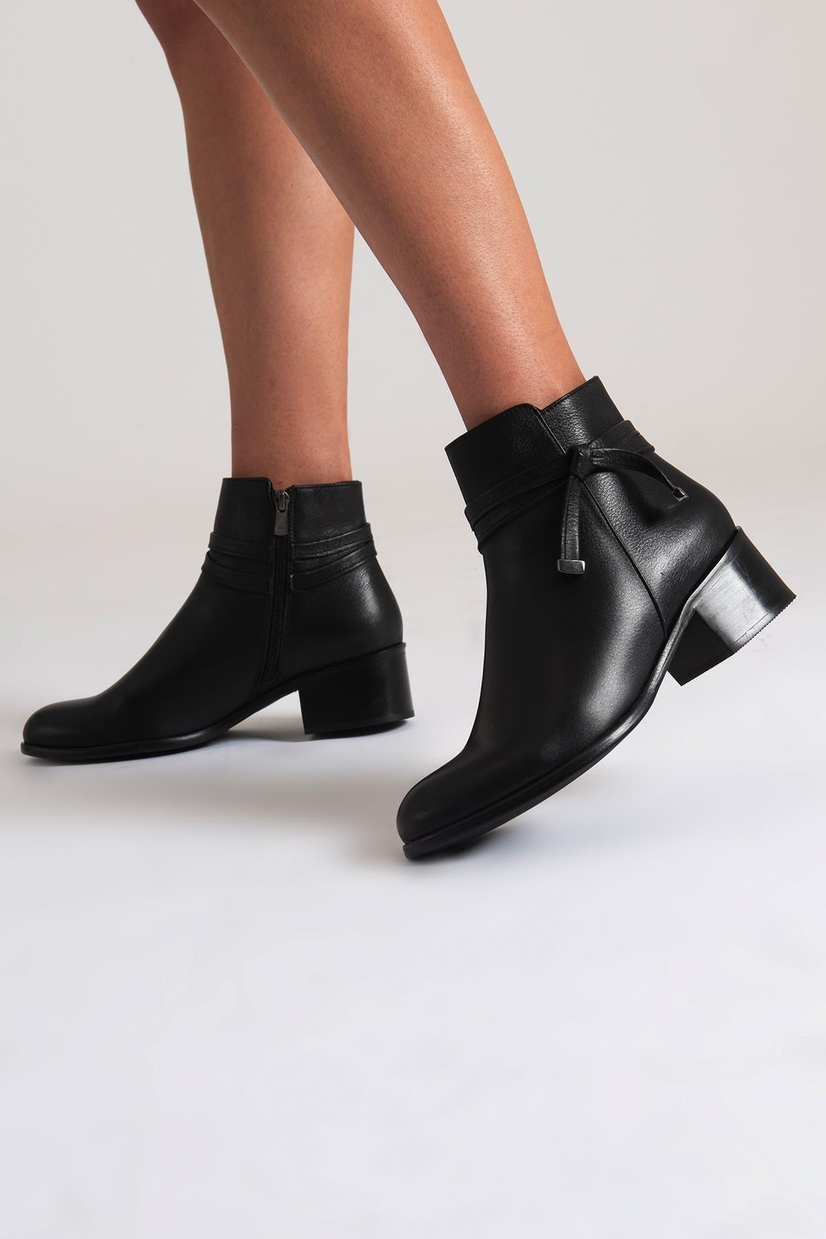 فروش پستی بوت زنانه شیک جدید برند CZ London رنگ مشکی کد ty48504110