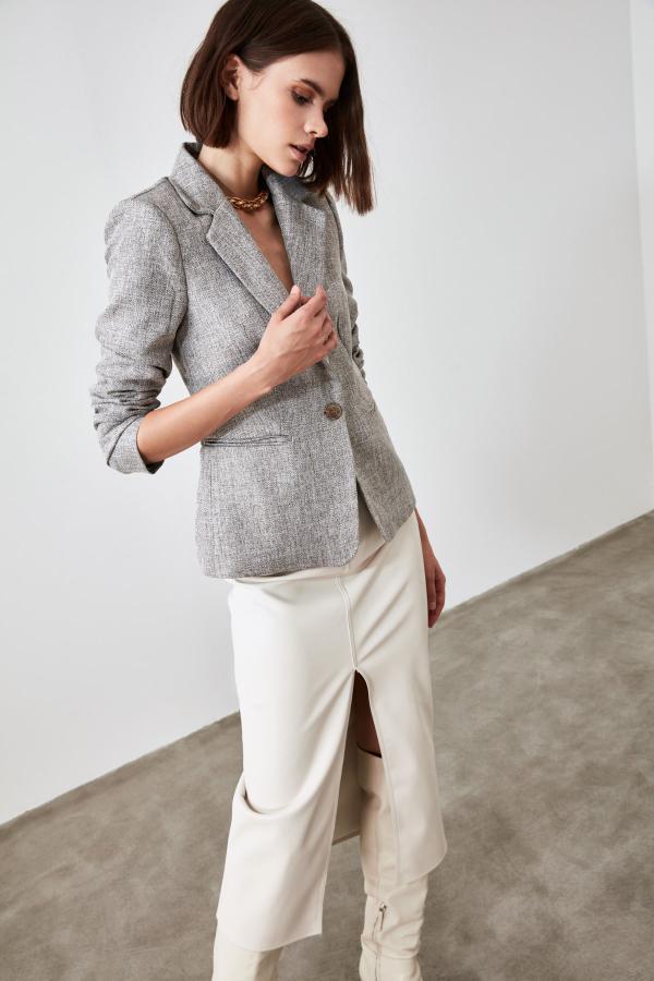 ژاکت زنانه مارک ترندیول میلا رنگ قهوه ای کد ty48505630