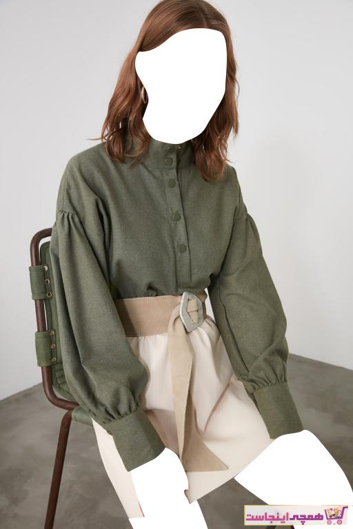 بلوز خاص زنانه برند ترندیول میلا ترک رنگ سبز کد ty48590436