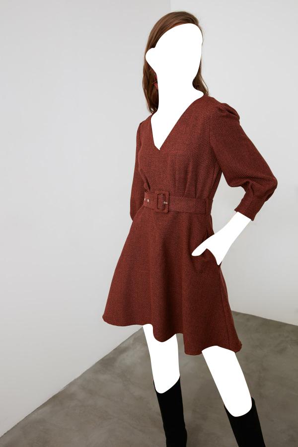ژورنال پیراهن زنانه مارک ترندیول میلا رنگ نارنجی کد ty48622112