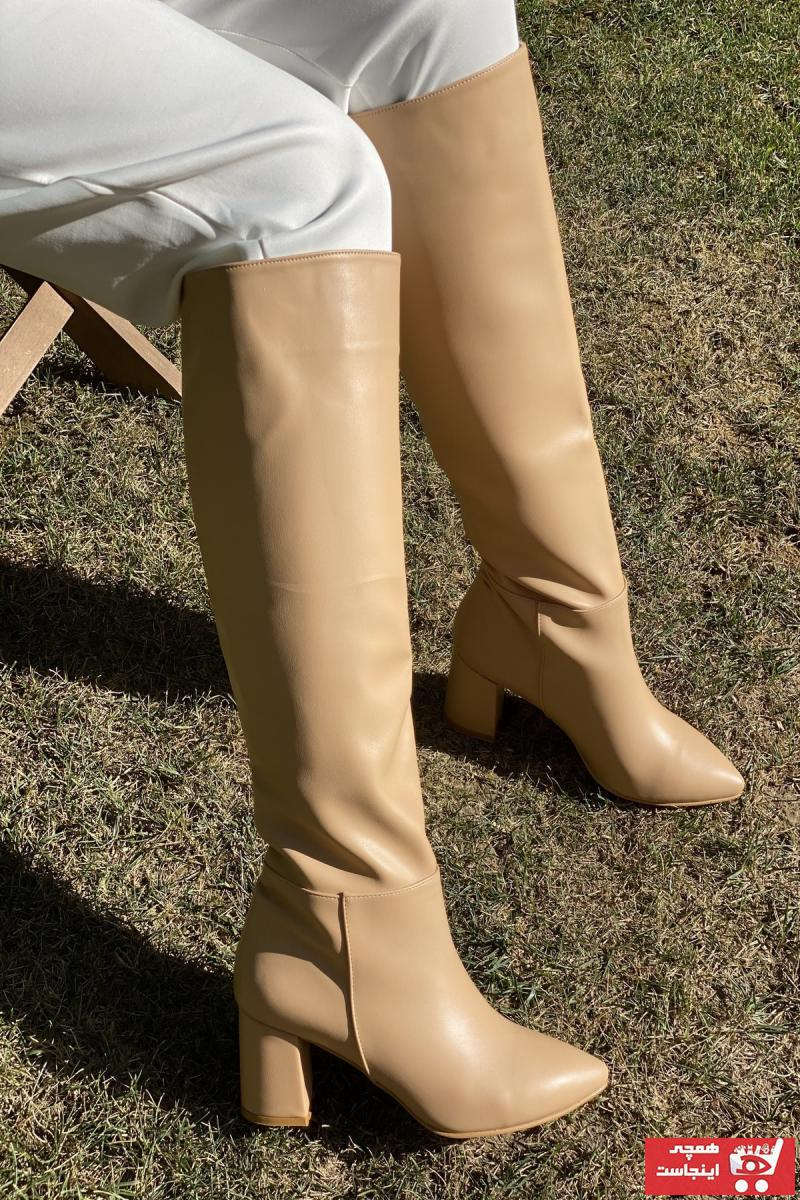چکمه دخترانه برند İnan Ayakkabı رنگ بژ کد ty48722255