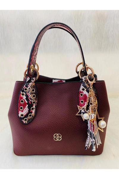 کیف دستی دخترانه قیمت مناسب برند Bulut Çanta رنگ زرشکی ty48940171