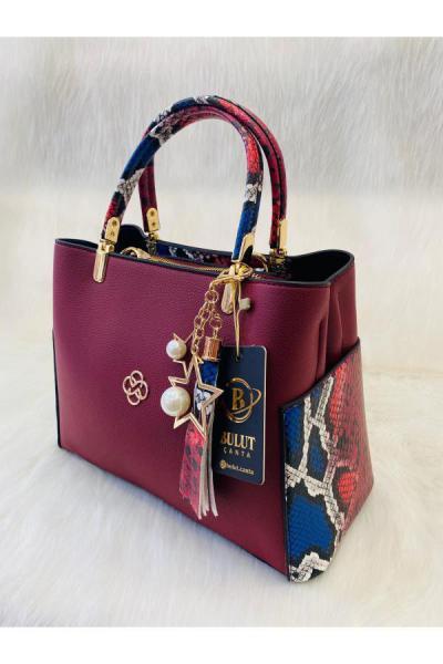 کیف دستی دخترانه  برند Bulut Çanta رنگ زرشکی ty48940674