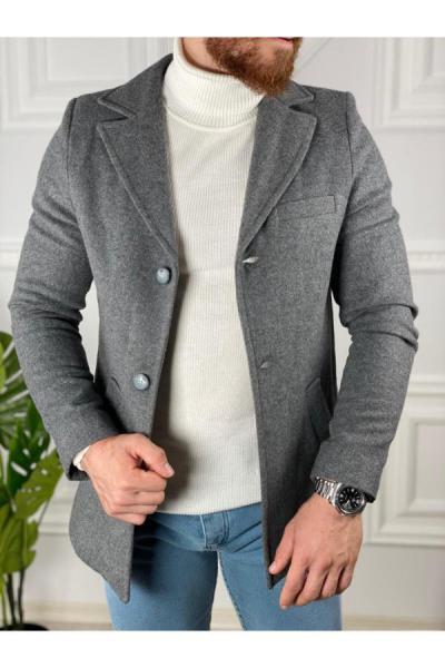 پالتو مردانه شیک جدید برند ukdwear رنگ نقره ای کد ty48998490