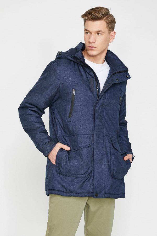 فروش پالتو مردانه شیک و جدید برند کوتون رنگ لاجوردی کد ty4914728