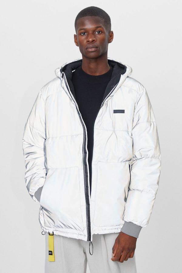 خرید پالتو 2020 مردانه برند bershka رنگ نقره کد ty49150769