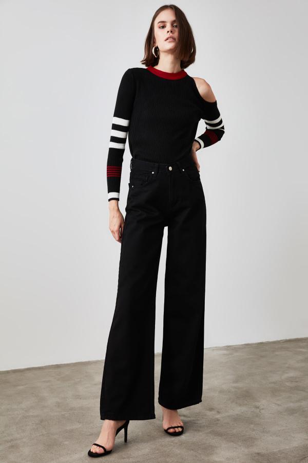 شلوار جین زنانه خاص برند ترندیول میلا رنگ مشکی کد ty49469953