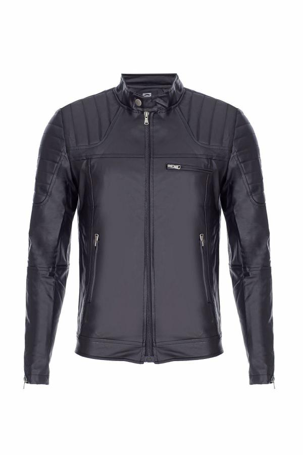 ژاکت چرم مردانه شیک برند NorthStyle رنگ مشکی کد ty49586190